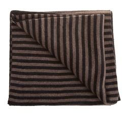 Hemley Smooth Striped Sjaal Midden Bruin