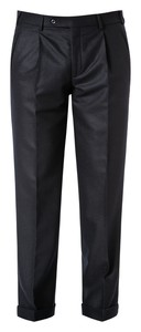 Hiltl Milano-U Carded Flannel Broek Donker Blauw
