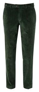 Hiltl Parma Genua Corduroy Flat-Front Corduroy Trouser Pine Green