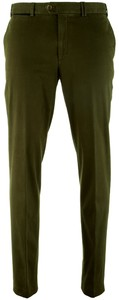 Hiltl Peaker-S Golden Tag Supima Satin Broek Olive