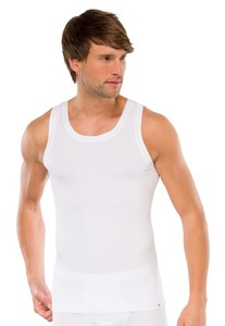 Schiesser Singlet Long Life Cotton White
