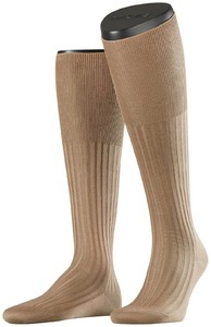 Falke No. 13 Finest Piuma Cotton Knee High Brownie Melange