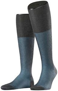Falke Fine Shadow Kniekous Grey-Light Blue