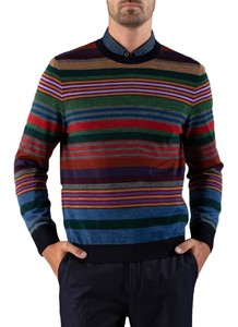 Maerz Striped Pullover Navy