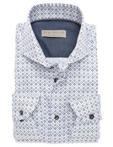 John Miller Luxury Weave Design Fantasy Donker Blauw