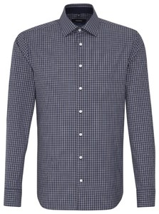 Seidensticker Tailored Check Blauw