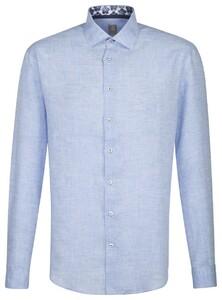 Jacques Britt Linnen Shirt Blauw