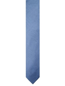 Cavallaro Napoli Silk Rib Tie Licht Blauw