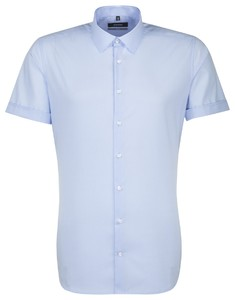 Seidensticker Short Sleeve X-Slim Aqua Blue