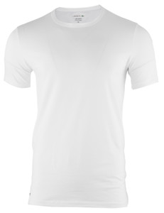 Lacoste Cotton Stretch O-Neck 2-Pack Wit
