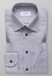 Eton Classic Micro Check Navy