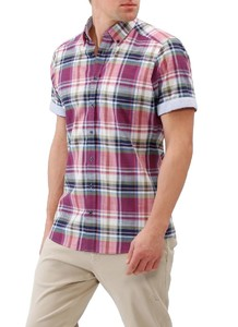 Maerz Short Sleeve Multi Check Berry Smoothie