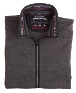 Paul & Shark Cool Touch Royal Yach Club Vest Antraciet