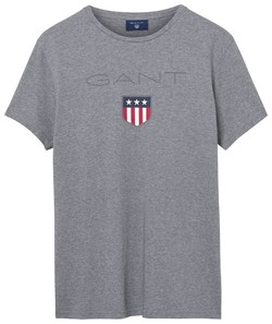 Gant Gant Shield T-Shirt Grijs Melange