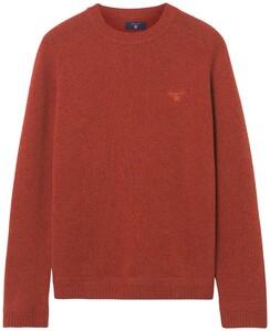 Gant Shetland Pullover Rust Melange