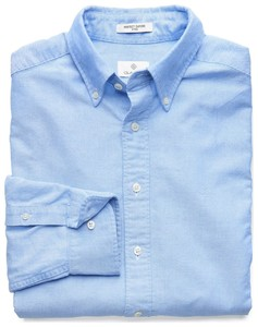 Gant The Perfect Oxford Fitted Blauw