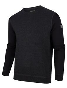Cavallaro Napoli Merino R-Neck Pullover Zwart