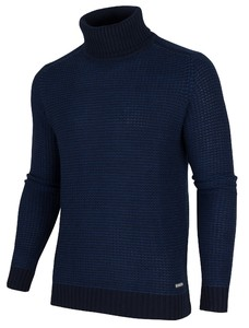 Cavallaro Napoli Trento Roll Neck Pullover Navy