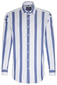 Seidensticker Stripe Twill Sky Blue Melange