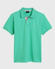 Gant Contrast Collar Piqué Pool Green