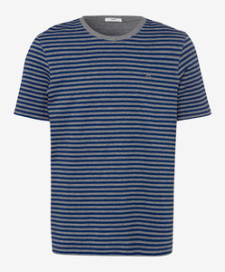 Brax Troy Striped T-Shirt Royal