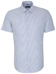 Seidensticker Business Kent Short Sleeve Blauw