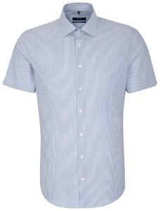 Seidensticker Business Kent Short Sleeve Blauw