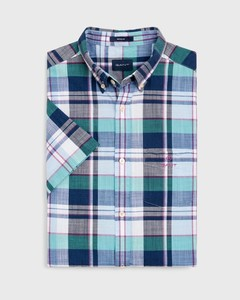 Gant Madras Colorful Check Short Sleeve Persian Blue