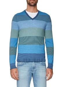 Maerz Striped Pullover Cobalt Blue