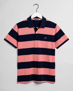 Gant Barstripe Piqué Rugger Strawberry Pink