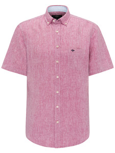Fynch-Hatton Solid Linen Shirt Pitahaya