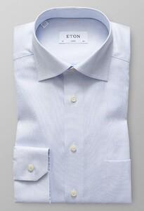 Eton Signature Twill Micro Weave Licht Blauw