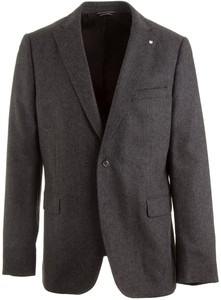 Gant The Herringbone Blazer Antraciet Melange