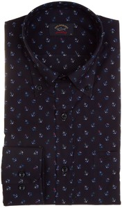 Paul & Shark Multicolored Anchors Shirt Navy