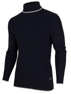 Cavallaro Napoli Portici Roll Neck Pullover Navy