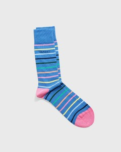 Gant Multistripe Socks Midden Blauw