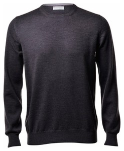 Gran Sasso Merino Extrafine Crew Neck Fashion Charcoal