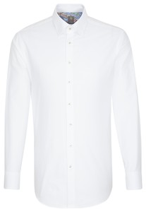 Jacques Britt Oxford Hidden Button Down White