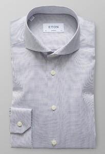 Eton Super Slim Micro Weave Melange Dark Navy