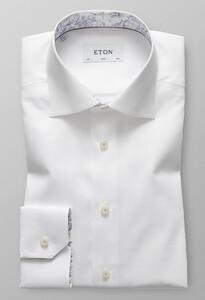 Eton Slim Floral Detail Wit
