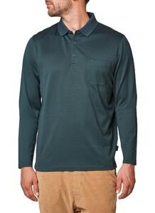 Maerz Cotton Long Sleeve Polo Slate