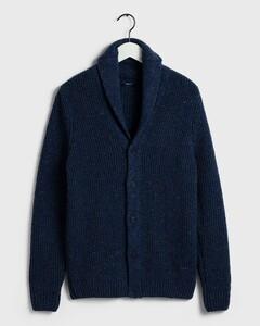 Gant Shawl Cardigan Blue Melange