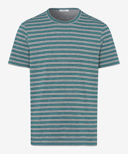 Brax Troy Striped Shirt Groen