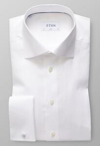 Eton Cotton Tencel French Cuff Wit