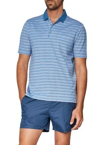 Maerz Striped Poloshirt Light Sky