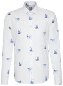 Jacques Britt Maritime Fantasy Aqua Blue