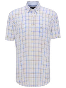 Fynch-Hatton Fine Multi Check Earth-Blue