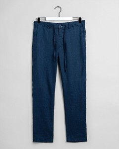 Gant Relaxed Linen Drawstring Pant Insignia Blue