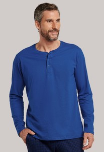 Schiesser Mix & Relax Cotton T-Shirt Knoopjes Royal Blue