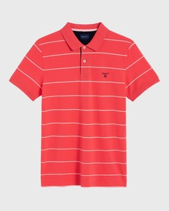 Gant 3 Color Piqué Short Sleeve Watermeloen Rood